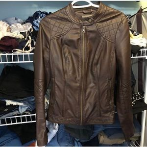 Jackets & Blazers - Orsay Brown Faux Leather Jacket